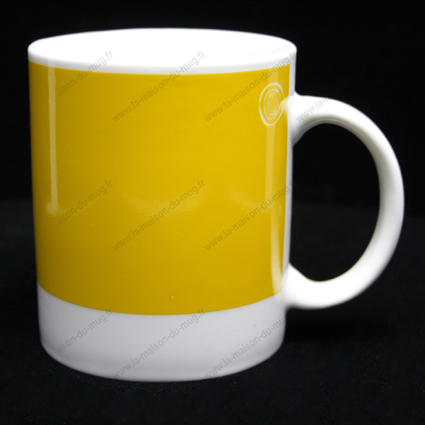 mug personnalis pantone jaune vif la maison du mug. Black Bedroom Furniture Sets. Home Design Ideas
