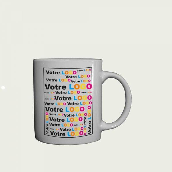 mini mug publicitaire expresso blanc