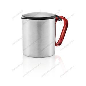mug couvercle métal personnalisé noir