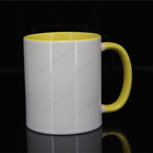 mug personnalisé ilbus jaune