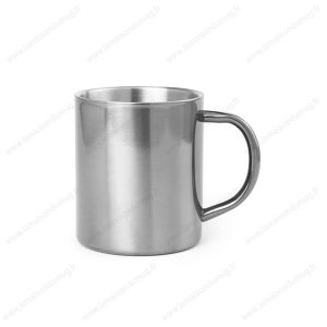 mug métal personnalisé gris