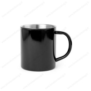 mug métal personnalisé noir