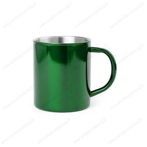mug métal personnalisé vert