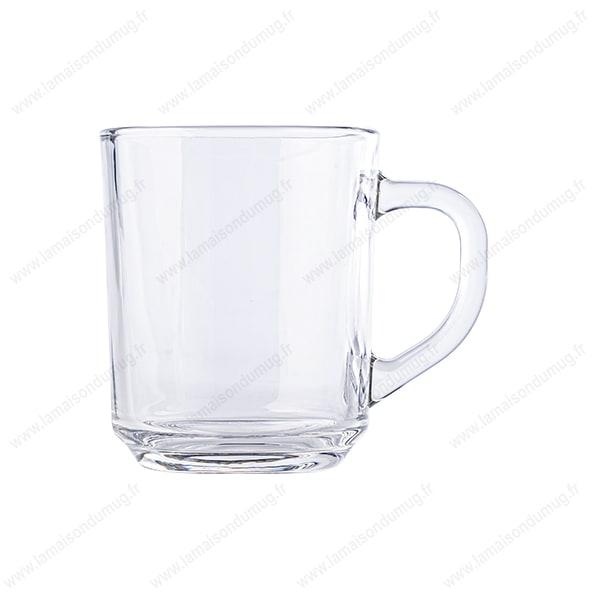 mug verre marqué Verro