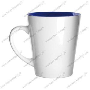 mug personnalisé hint bleu