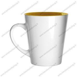 mug personnalisé hint jaune