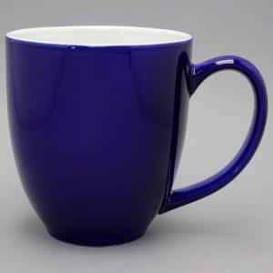 grand mug publicitaire bleu cobalt et tasse publicitaire