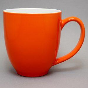 grand mug publicitaire orange et tasse publicitaire