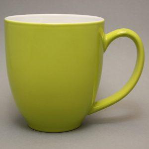 grand mug publicitaire vert-feuille et tasse publicitaire