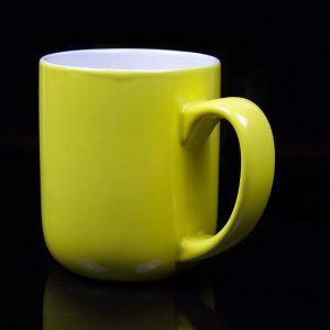 grand mug personnalisé jaune citron