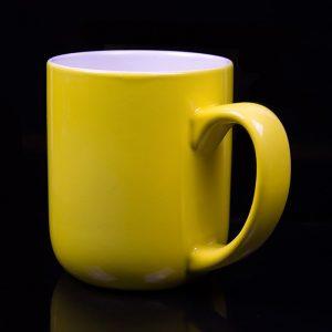 grand mug personnalisé jaune tournesol