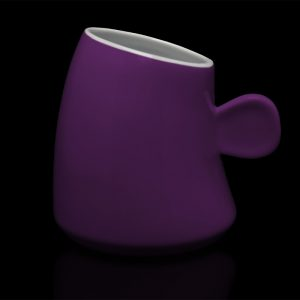 mug personnalisé laitiere aubergine
