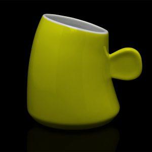 mug personnalisé laitiere jaune citron