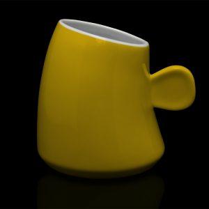mug personnalisé laitiere jaune tournesol