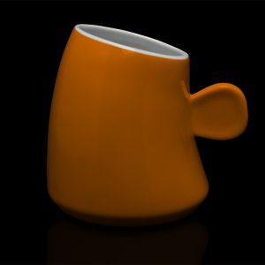 mug personnalisé laitiere orange