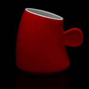 mug personnalisé laitiere rouge