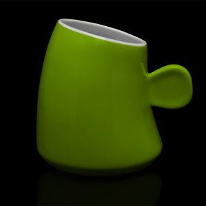 mug personnalisé laitiere vert anis