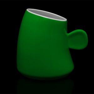 mug personnalisé laitiere vert feuille