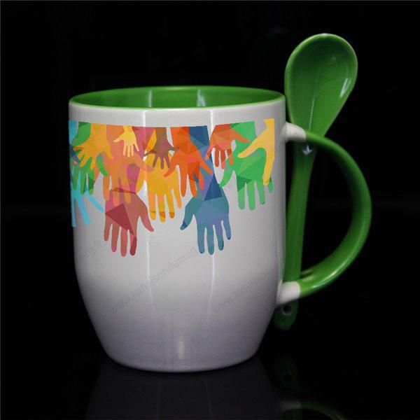 mug personnalisé subcouleur vert