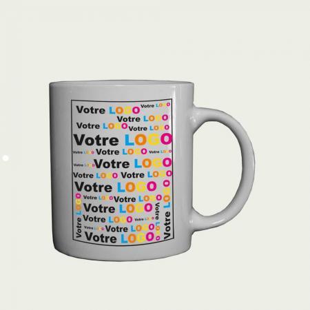 Mini mug publicitaire Esso blanc