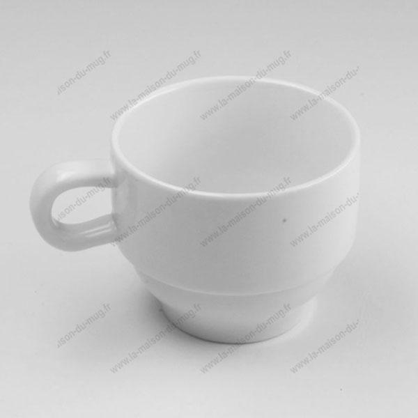 Tasse publicitaire café blanca