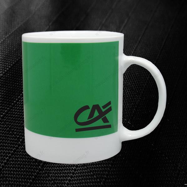 mug personnalisé pantone vert