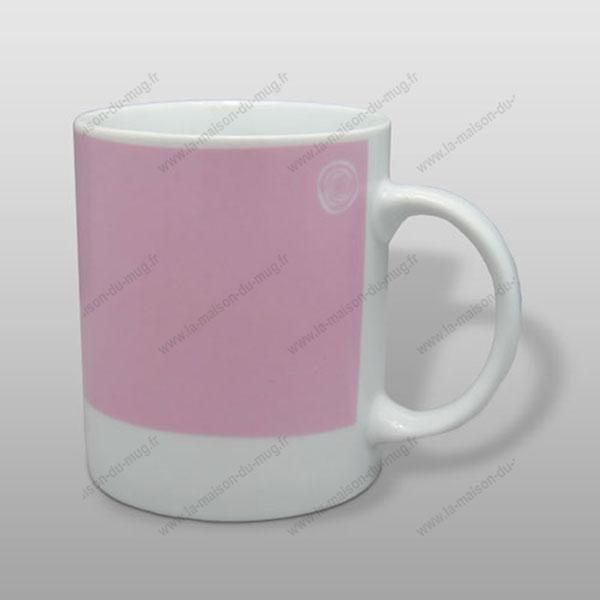 mug personnalisé pantone rose