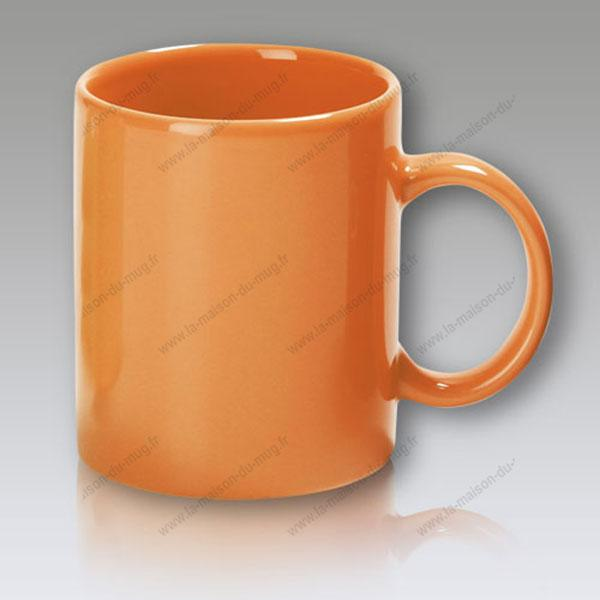 mug personnalisé cool orange