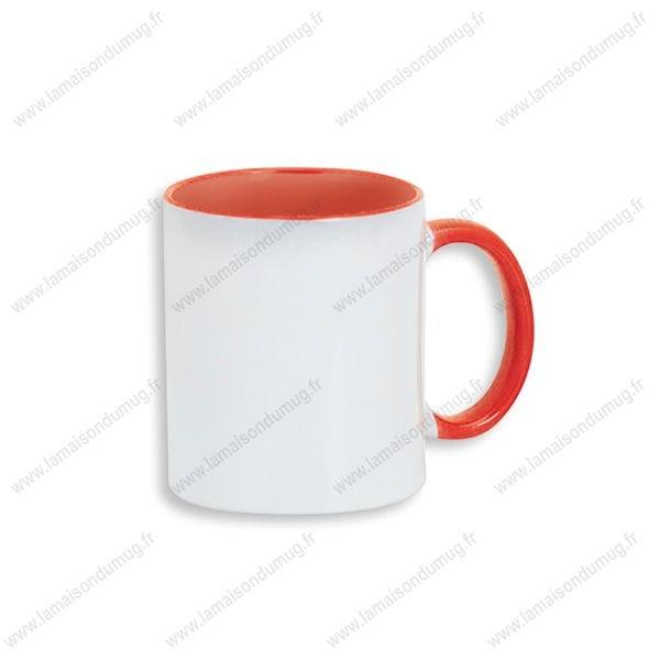 mug personnalisé dino orange