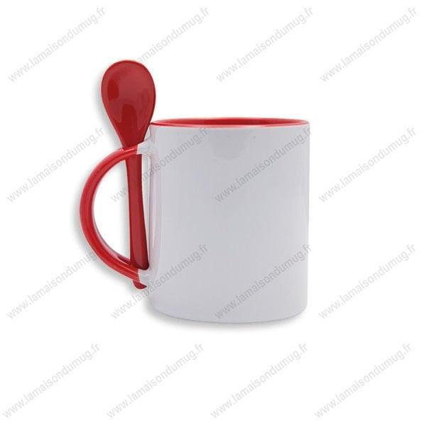 mug personnalisé festy rouge