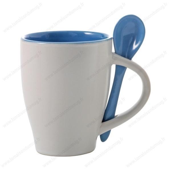 Mug personnalisé sugar bleu ciel