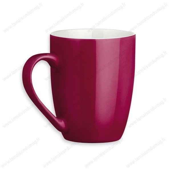 mug personnalisé sandy bordeau