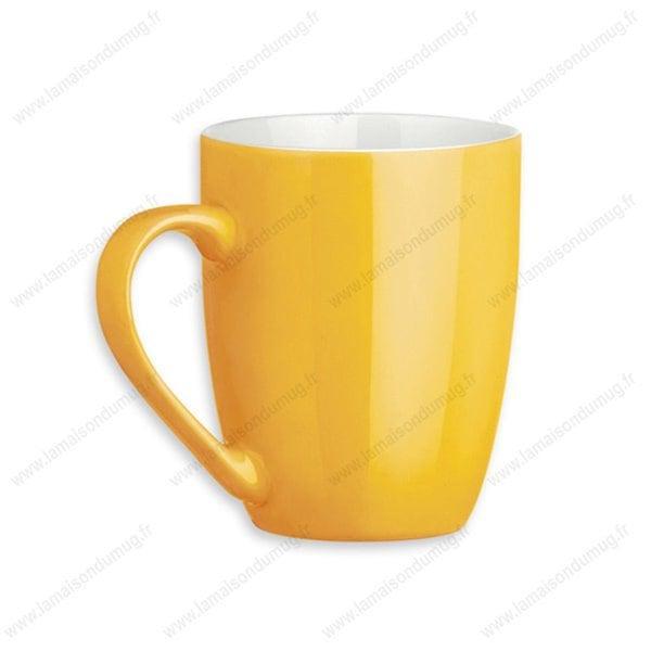 mug personnalisé sandy jaune