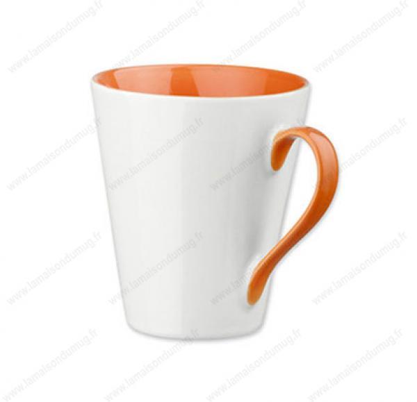 mug personnalisé marie orange