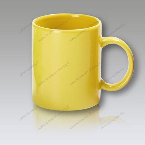 mug personnalisé cool jaune