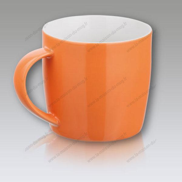 mug personnalisé gift orange