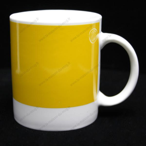 mug personnalisé pantone- aune vif