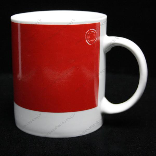 mug personnalisé pantone rouge vif