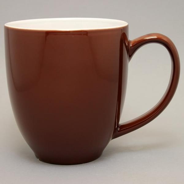 grand mug publicitaire marron chocolat et tasse publicitaire